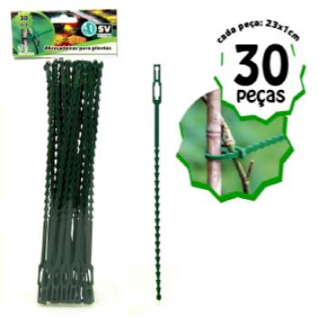 Abraçadeira p/ Plantas - 30 pçs