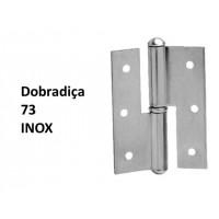 "Dobradiça 73 x 2 1/2"" Inox"