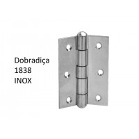 "Dobradiça 1838 x 1 1/2"" Inox"