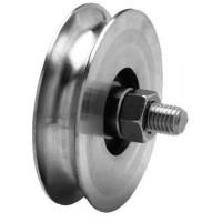 Roda P/ Portão Zinc. 50 mm - U
