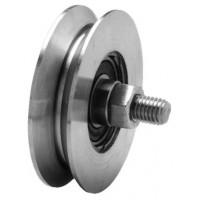 Roda P/ Portão Zinc. 50 mm - V