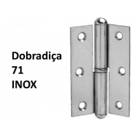 "Dobradiça 71 x 2 1/2""  Inox"