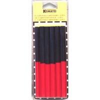Cj. Lápis Carpinteiro Bicolor Oval 12 Pçs