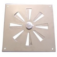 Ventilador Inox Rotativo 15 x 15 cm