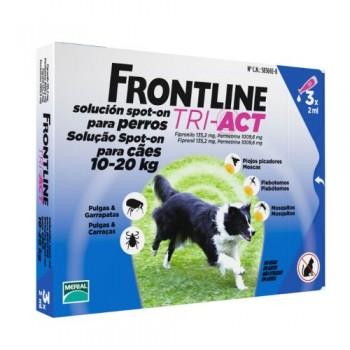 Frontline TRI ACT -  Cj. 3 Pipeta p/Cão 10 - 20 kg
