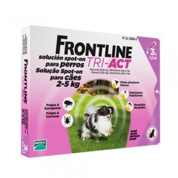 Frontline TRI ACT -  Cj. 3 Pipeta p/Cão 2 - 5 kg
