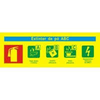 Sinal Incêndio PVC Fotoluminuscente - 24 x 8.5 cm