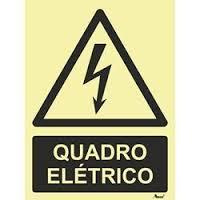 Sinal Perigo PVC Fotoluminuscente - 10 x 15 cm