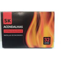 SK - Acendalhas Extra Qualidade (32 cubos)